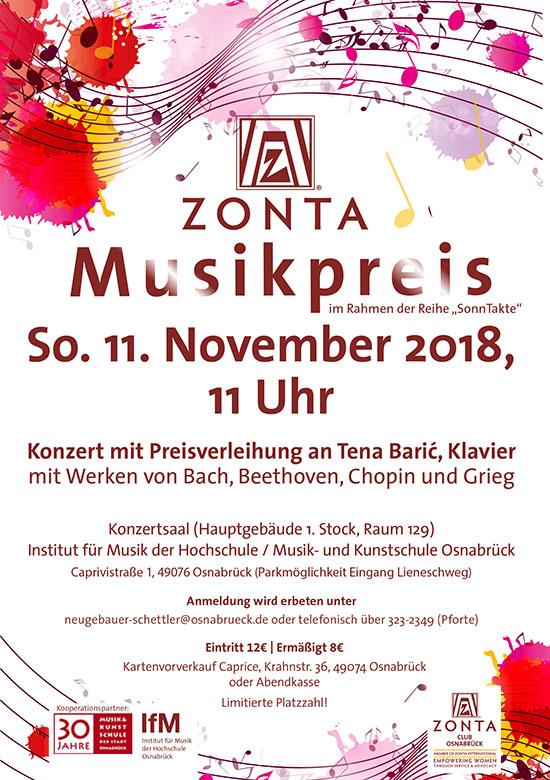 Zonta Musikpreis 2018